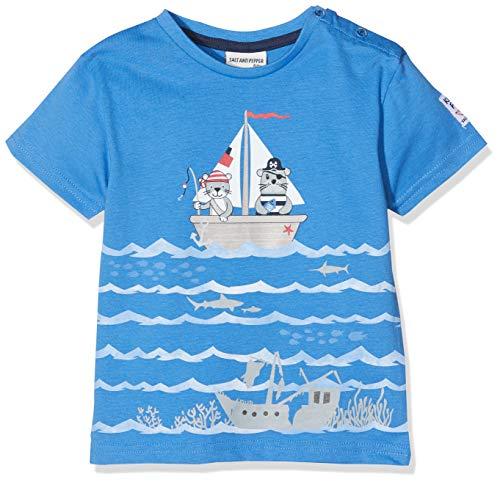 SALT AND PEPPER Baby - Jungen B T-Shirt Pirat Uni Print T-Shirt,per Pack Blau (Strong Blue ()