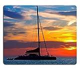liili Mouse Pad de goma natural mousepad Ibiza San Antonio Abad De portmany catamarán barco Puesta de sol con ID de imagen en las Islas Baleares de España 22735848
