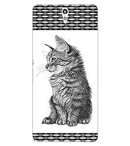 ColourCraft Cute Cat Design Back Case Cover for SONY XPERIA C5 E5553 / E5506