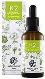 Vitamin K2 MK-7 Tropfen 200 µg (mcg) - 50ml. Premiumqualität: VitaMK7 von Gnosis. Aktionspreis. Pflanzliches Menaquinon mit 99% All Trans. Flüssig, hochdosiert, vegan, hergestellt in Deutschland