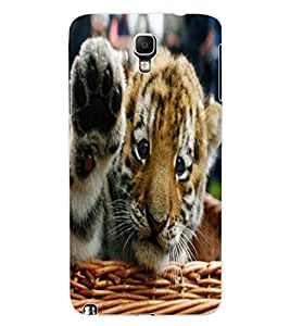 ColourCraft Cute Tiger Cub Design Back Case Cover for SAMSUNG GALAXY NOTE 3 NEO DUOS N7502