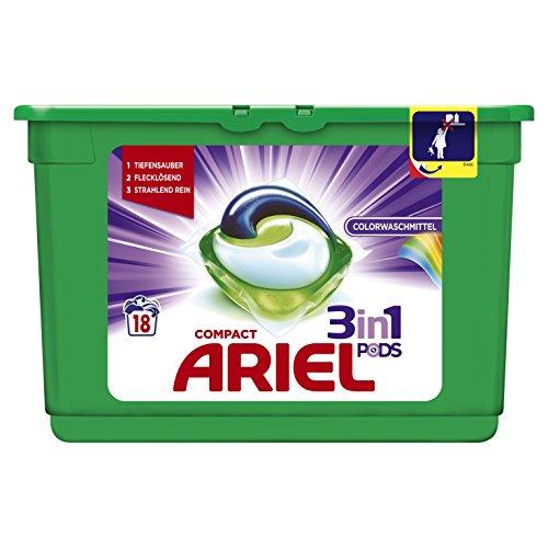 Ariel 3in1 PODs Colorwaschmittel, 3er Pack (3 x 18 Waschladungen)