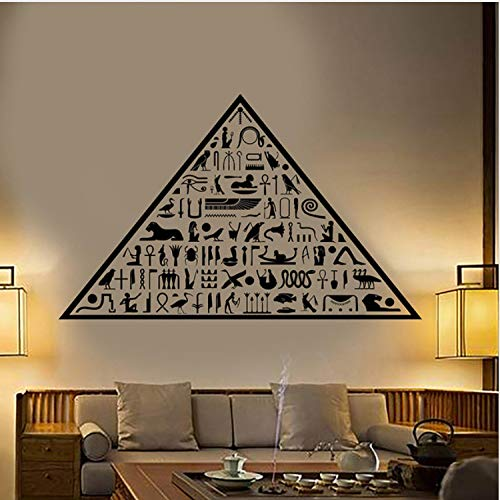 XCSJX Ägyptische Pyramide abnehmbare Persönlichkeit Wandaufkleber Wohnzimmer