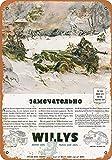1943 Willys Army Jeeps Affiche en mšŠtal Mur Art Boutique Pub DšŠcoration