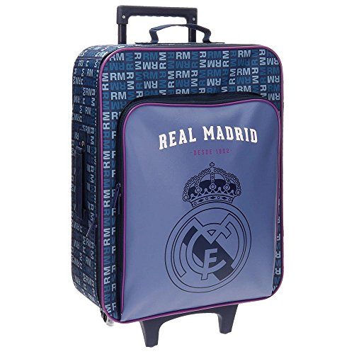 Real Madrid 5649051 Basic Equipaje Infantil, 52 cm, 26 litros
