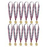 12Stück gold Medaillen für Schwimmen–Schwimmen Medaillen–Winner Medaillen, 5,1cm in Durchmesser mit 30Band