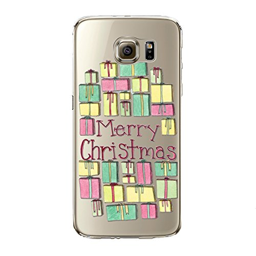 Christmas Hülle iPhone 7 / iPhone 8 LifeePro Weihnachts Cover Ultra dünn Weiches Transparent TPU Gel Silikon Handy Tasche Bumper Case Anti-Scratch Back Cover Full Body Schutzhülle für iPhone 7 / iPhon Christmas Presents