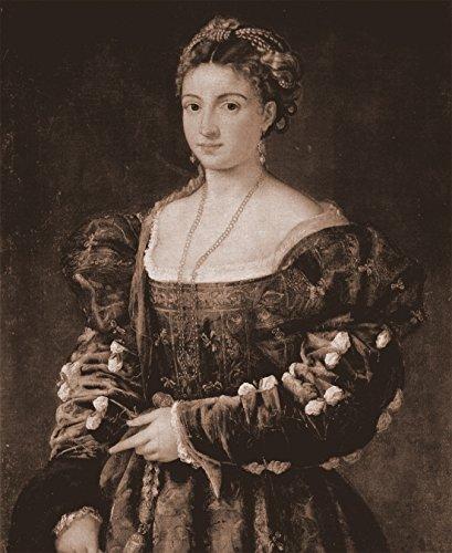 Vlies Fototapete Tizian - Alte Meister - La Bella - sephia - Sepia - 150x180 cm - mit Kleister - Poster - Foto auf Tapete - Wandbild - Wandtapete - Vliestapete - Isabella-stoff