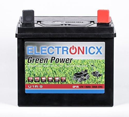 Preisvergleich Produktbild Electronicx® U1R 30Ah 300A Green Power Batterie für Aufsitzrasenmäher, Gartengeräte, Motorrad, Starterbatterie 12V, Warungsfrei, Calcium Technologie