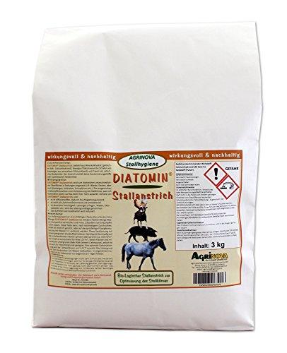 Agrinova DIATOMIN Stallanstrich - Innovativer Kalk-Kasein-Stallanstrich zusätzlich mit natürlicher Kieselgur zur Verbesserung der Hygiene und zur Bekämpfung von Schädlingen im Stall. (3 kg)