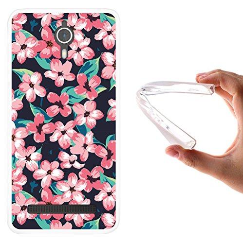 WoowCase Coolpad Porto S Hülle, Handyhülle Silikon für [ Coolpad Porto S ] Vintage Blumen Handytasche Handy Cover Case Schutzhülle Flexible TPU - Transparent