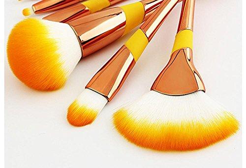 Make-up Pinsel Set Baseball Mädchen Foundation Pinsel Schönheit Makeup Tools Kosmetik Pinsel Concealer Pinsel 8 stücke , Roségold -