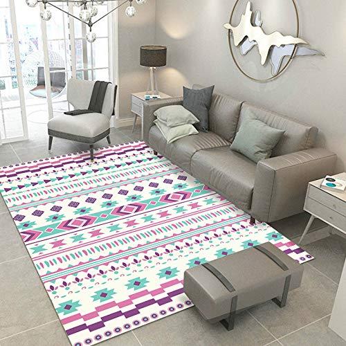 GUANGZHOUKERENGANG Guangzhouukuerengang Ins Nordic einfacher Teppich Wohnzimmer geometrische Couchtischdecke Schlafzimmer Nachttisch quadratisch Teppich Fenstermatte Fotofarbe 200 x 300 cm