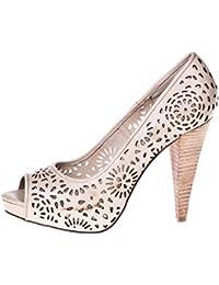ROBERTO BOTELLA - Peep toes con adorno láser - Color Beige - Talla 40