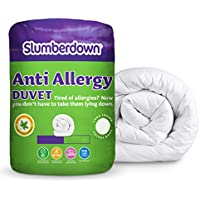 Slumberdown Anti Allergy Summer Cool 4.5 Tog Duvet, White, King Size