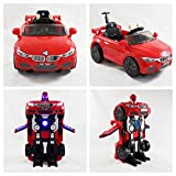 Dual Mode Kids Ride ON BMW Style with Robots Transformed Electric Children 12V
