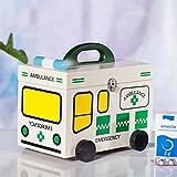 MMM Medicina de madera de Hogares Caja Kit de primeros auxilios los niños del bebé de Drogas Caja de almacenamiento fuera de la caja Médico Pequeña caja de la medicina