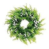 Baoblaze Künstliche Gypsophila Türkranz Wandkranz Dekokranz Weihnachtskranz Adventskranz, aus Plastik