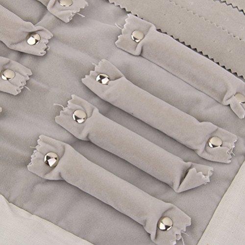 ROSENICE Schmuckrolle Samt Schmuckorganizer für Ohrringe Halskette Armbänder Ring