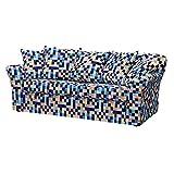 Soferia - Bezug fur IKEA TOMELILLA 2-er Bettsofa, Mozaik Blue