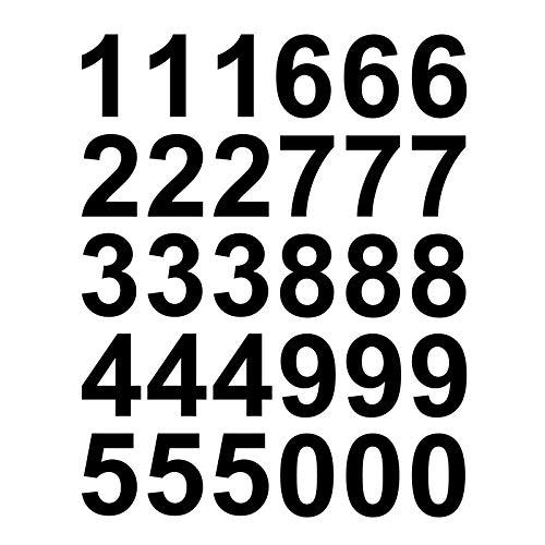 Kleb-drauf - 30 Zahlen, Höhe je 7 cm - Aufkleber zur Dekoration von Wänden, Glas, Fliesen und Allen Anderen glatten Oberflächen im Innenbereich, Schwarz