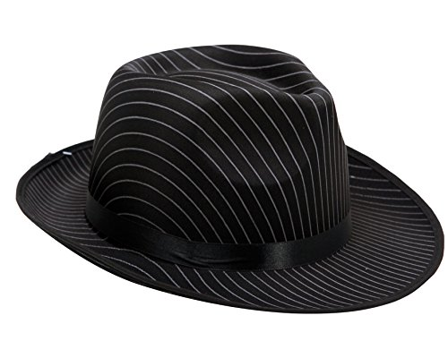 viving Kostüme viving costumes201587Gangster Hat mit Streifen (58cm, One Size) (Gangster Dress Up Kostüm)