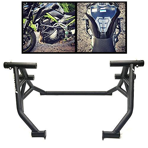 LAIDAN Für Kawasak Z900 Motorrad Sturzbügel/Schutzbügel-Protektoren Eingebauter Frühling CNC Aluminiumlegierung Schützt Crash Bars Rahmen Protector Schutz, Schwarz