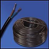 100metros de manguera de 2G0,75h03vv-f mm², 2x 0,75mm²-Negro-100m Ring