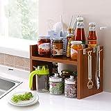 WENZHE Küchenregal Küche Ablage Regal Storage Racks Küchen Mikrowelle Regal Backofengestell Gewürzflaschen Geschirr