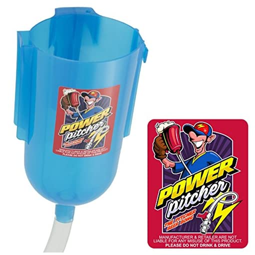 POWER-PITCHER-Bier-Bong-Premium-Party-Pitcher-TrinkTrichter-2-Liter-mit-Griff-inkl-Mundstck-beer-bong