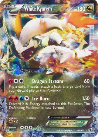 Pokemon - White Kyurem ex (101/113) - Legendary Treasures - Holo by Pokemon USA, Inc. (Pokemon White Kyurem Ex)