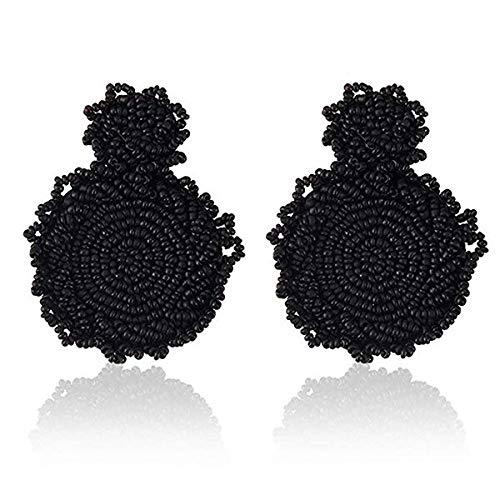 JDFESHUME Ohrringe Böhmische Perlen Runde Ohrringe Für Frauen Exquisite Ornamente Bunte Ohrringe Mode -