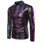 Herren Pullover,TWBB Multicolor Streifen Mode Oberteile Sweatshirt Poloshirt Lange Ärmel Shirt Blusen Casual