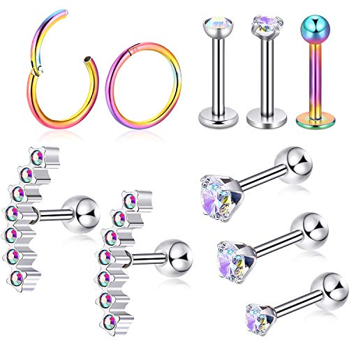 Body Piercing Jewelry Jewelry & Watches Collection Here Piercing Alla Lingua Brillanti Multi Sfere Cristallo Acciaio Inox Barra Available In Various Designs And Specifications For Your Selection
