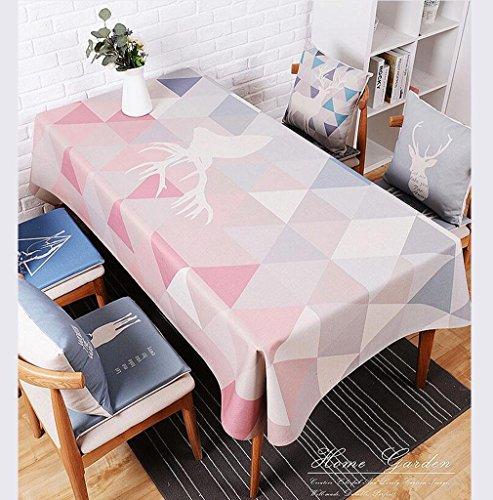 DZYZ Toile de coton en coton résistant à la tache Taille assortie , 110*170cm , pink