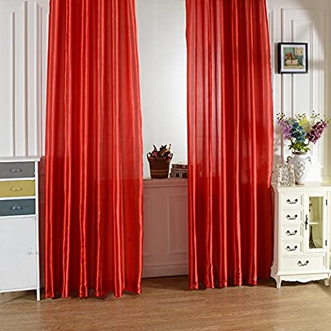 Befaith New Rod Pocket Top Solid Color Satin Curtain Panel