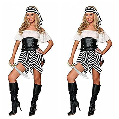 Costume Pirate Hat - XIXI Senza Spalline Caribbean Pirates Costume Di