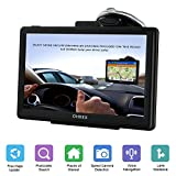 OHREX SAT NAV, 7 inch with Pre-installed 2020 UK Ireland Europe FREE Lifetime Map Updates, Sat Navs for Cars Motorhome Truck HGV Lorry Includes Postcodes& POI Speed Cam Alerts Lane Assist Guidance