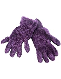 6 Pairs Ladies Feather Feel Coloured Gloves