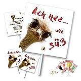 Unser-Festtag Vogel am Lutscher Geburtstagseinladungen - lustig, witzig, originell persönlich - 90 Karten