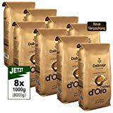 Dallmayr Crema d'Oro Kaffee, Bohnenkaffee, Röstkaffee, ganze Bohnen, Kaffeebohnen, 8 x 1000 g