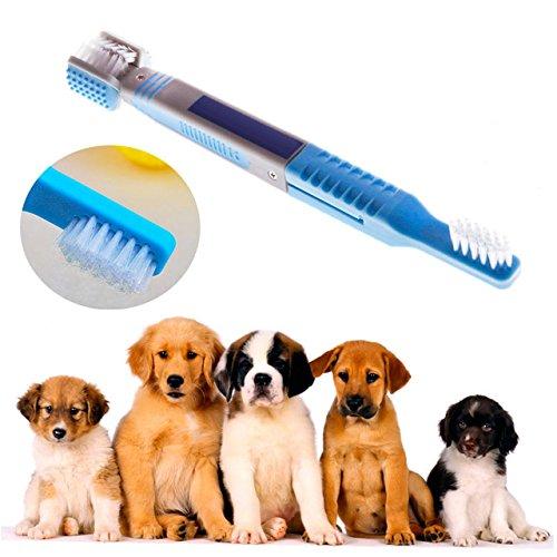 Tutoy Haustier Hund Automatik Handschuh Zahnbürste Ultifaceted Reinigung Boothbrush Pet Katze Mundpflege (Zahnbürste Kostüme)