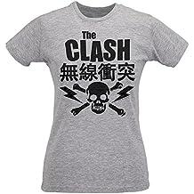Damen-T-shirt Slim The Clash Japan Logo - Maglietta 100% Baumwolle ring spun LaMAGLIERIA