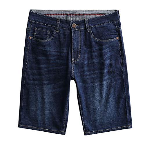 Mymyguoe Herren Jeans Shorts Sommer Kurze Hose Jeans Denim Shorts Herren Kurze Hose Herren Jeans Shorts Jogger Denim Kurze Hose Slim Fit Herren Shorts Jeansshorts [Marine,31] -
