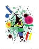 Joan Miro der singende Fisch Poster Kunstdruck -50x40cm- Kostenloser Versand