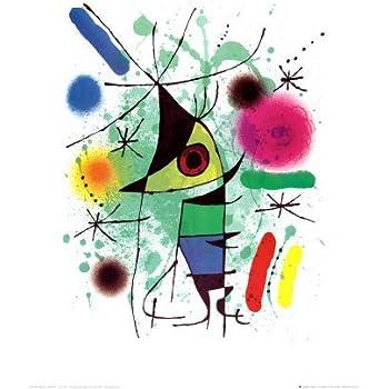 Reproduction d'art 'Le poisson chantant', de Joan Miró, Taille: 40 x 50 cm