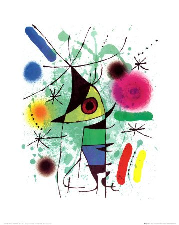 Reproduction d'art 'Le poisson chantant', de Joan Miró,...