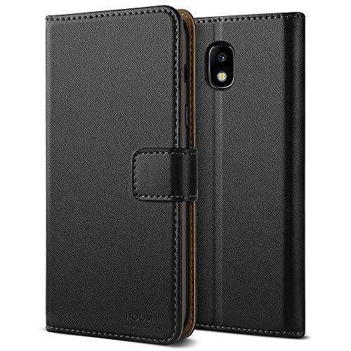 HOOMIL Galaxy J5 2017 Hülle, Handyhülle Premium Leder Tasche Flip Case Schutzhülle für Samsung Galaxy J5 2017 - Schwarz (H3169)