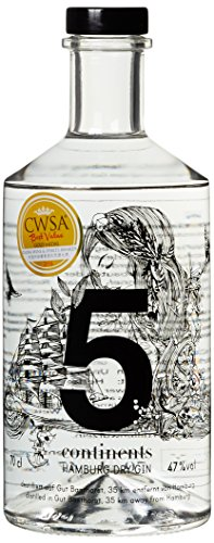 5 Continents Hamburg Dry Gin (1 x 0.7 l)