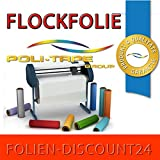 (EUR 27,90 / Quadratmeter) FLOCKFOLIE TbT 181 NEON ORANGE BÜGELFOLIE TOP ! Preistip Flex Flock 1 M x 50 cm POLITAPE
